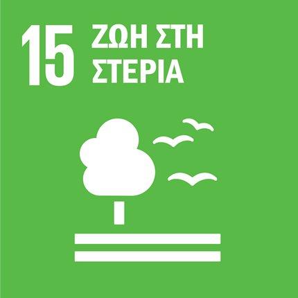 Προωθούμε τη βιώσιμη χρήση των χερσαίων οικοσυστημάτων και δασών, καταπολεμούμε την ερημοποίηση, αναστρέφουμε την υποβάθμιση του εδάφους και της βιοποικιλότητας
