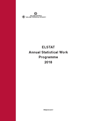 ELSTAT Annual Statistical Work Program 2018